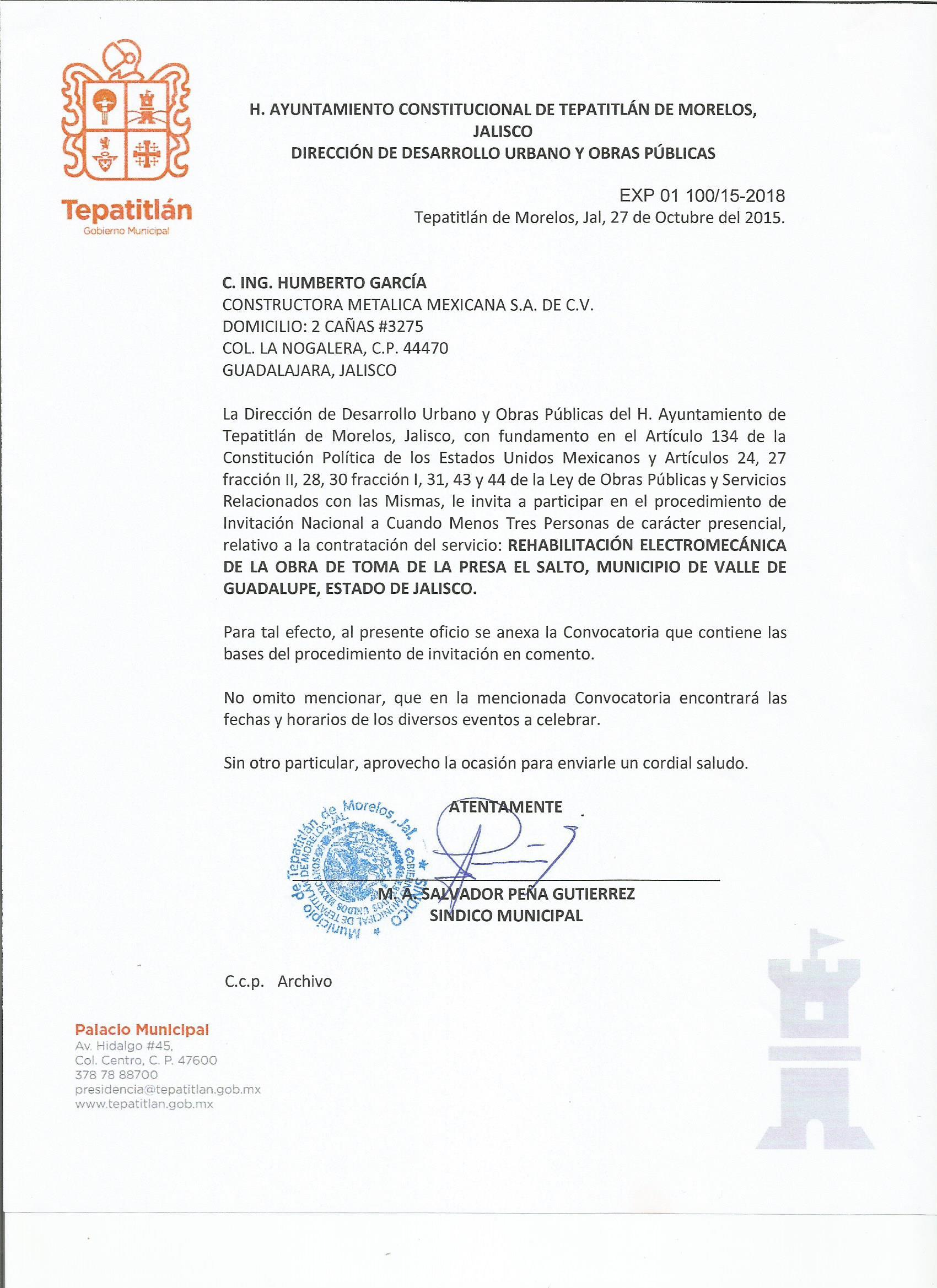 Obras p blicas transparencia tepatitl n de morelos - Constructoras en guadalajara ...